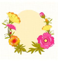 Springtime colorful flower background vector