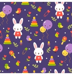 Cute baby pattern design vector image vector image