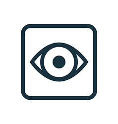 eye icon Rounded squares button vector image