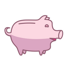 piggy bank or money box vector image