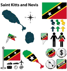Saint Kitts and Nevis map vector image vector image
