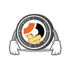 Silent bitcoin dark mascot cartoon vector