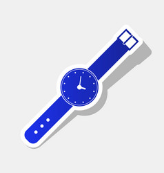 watch sign new year bluish vector image vector image