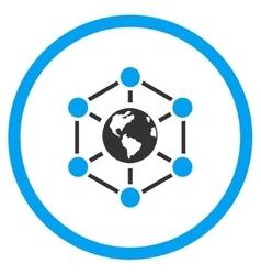 Worldwide Internet Icon vector image