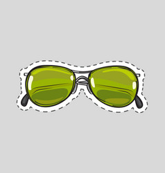 classic glasses icon patch isolated cut out vector image