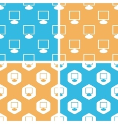 Monitor pattern set colored vector image