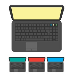 notebook icon top view vector image vector image