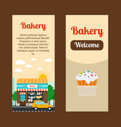bakery house flyers vector image