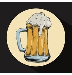 Beer concept design vector image