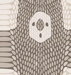 Snake skin texture Seamless python skin pattern vector image vector image