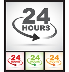 24 hours set vector