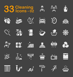 33 cleaning icons 02 vector image