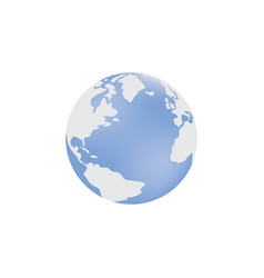 A blue globe with an image vector
