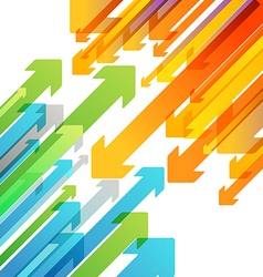 Abstract background of different color arrows vector image