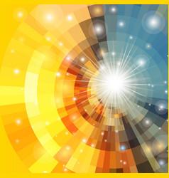 Abstract sunrise circle vector