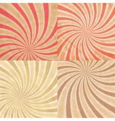 Abstract vintage colored sun burst background vector