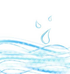 Abstract water background with drops vector image