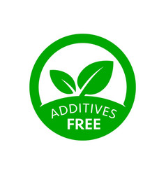 additives free icon product labels vector image