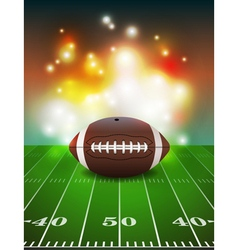 American Football and Field vector image