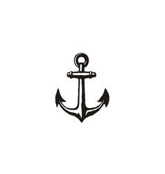 Anchor rustic vintage retro boat ship yacht logo vector