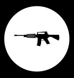 Army machine gun simple silhouette black icon vector