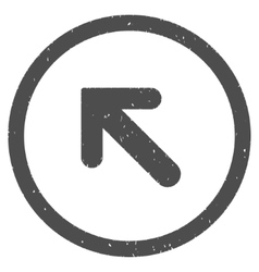 Arrow Left Up Icon Rubber Stamp vector image