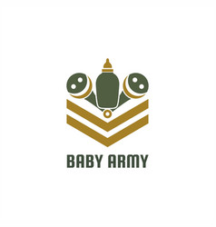 baby army logo vector image
