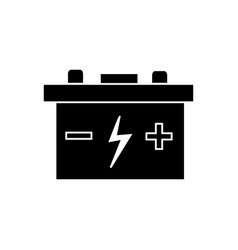 battery auto icon black sign vector image