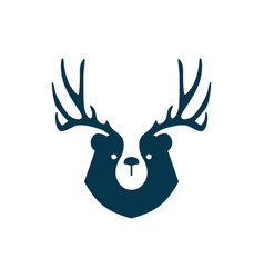 Bear deer logo for branding or merchandise and t vector