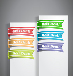 Best Deal Labels vector image