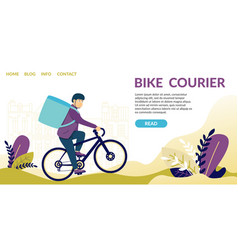 Bike courier demand for speed courier services vector