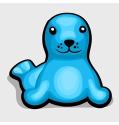 blue seal children soft toy vector image