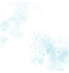 Blue watercolor splash square background eps10 vector