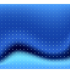 blue wave and dots vector image