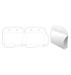 Cardboard pillow packaging die cut template design vector