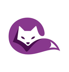 cat sleeps logo icon design vector image