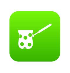 cezve icon digital green vector image