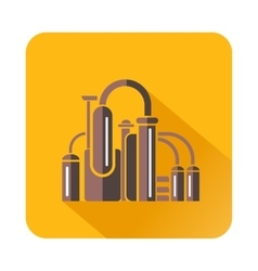 Chemical equipment icon flat style vector