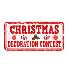 Christmas decoration contest grunge rubber stamp vector