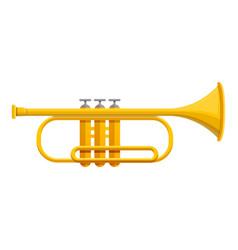 Classic trumpet icon cartoon style vector