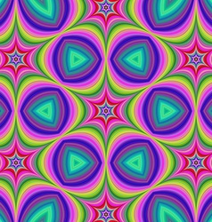 Colorful hexa star background vector image