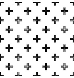 Crossing road pattern vector