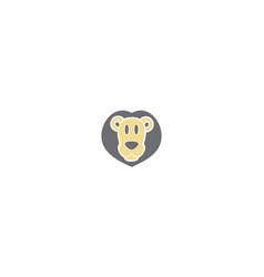 Cute lion logo icon vector