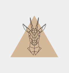 deer female geometric portrait vector image