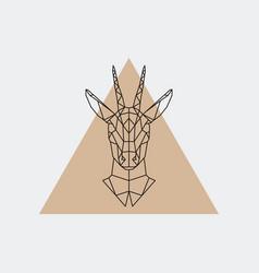 Deer female geometric portrait vector