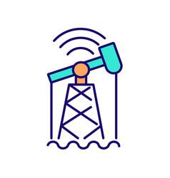 Digitalization in industry rgb color icon vector