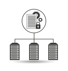 Document work secure data center connection vector