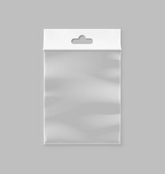 empty transparent zipper bag vector image vector image