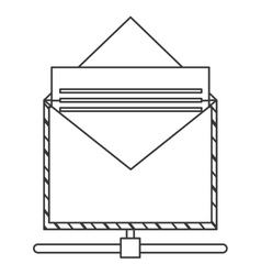 Envelope with document icon vector