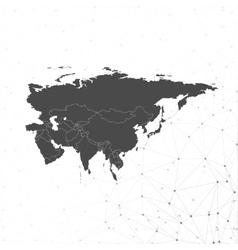 Eurasia map background for communication vector